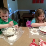 mixing the conditioner and corn starch