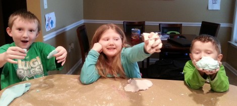 finished play dough!