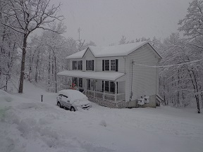 our home during the winter