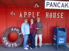 eating at the famous Apple House