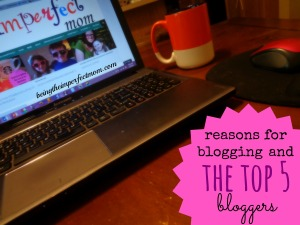 reasons for blogging and the top 5 bloggers